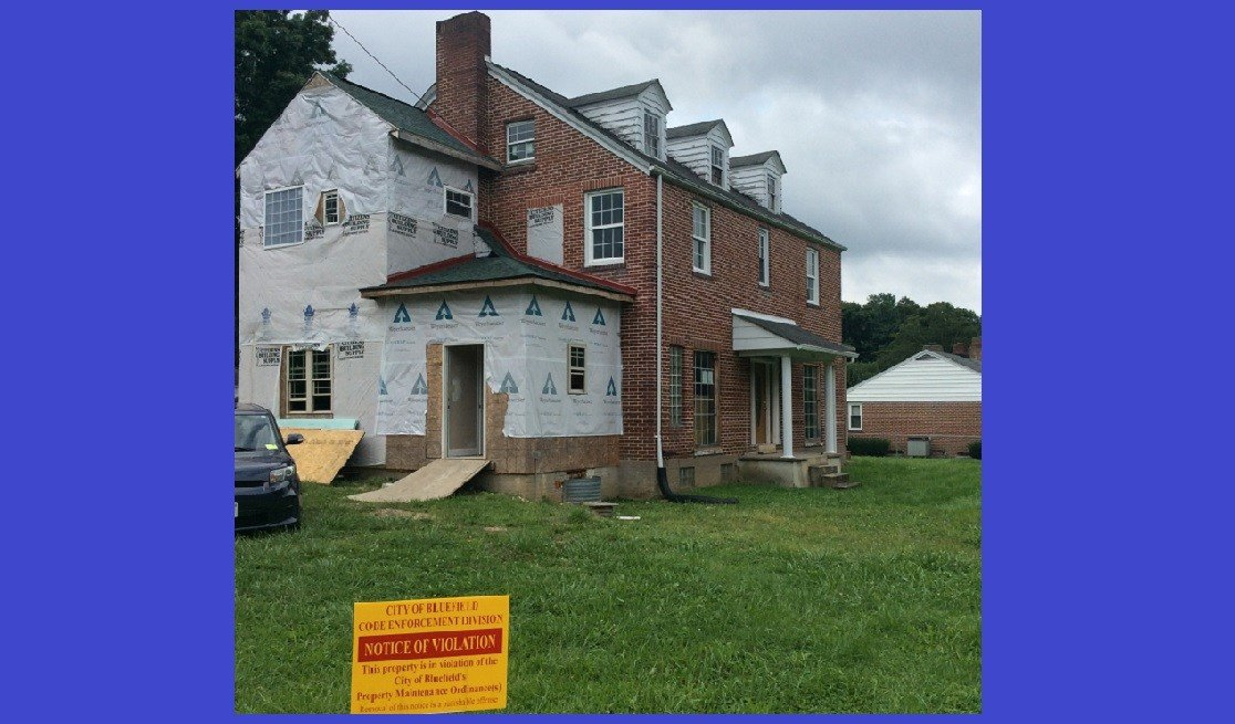 Properties with code violations in Bluefield, WV could soon have a bright yellow sign placed in the front yard.