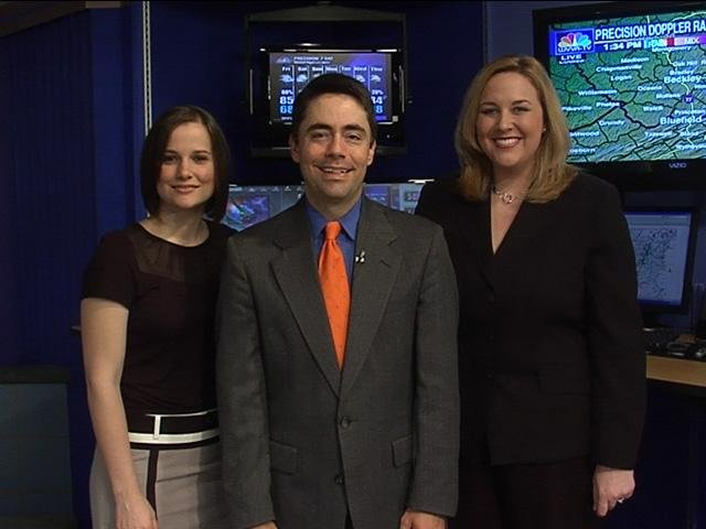 (From left to right) Meteorologist Kristin Bartee, Chief Meteorologist Corey Henderson, Meteorologist Janna Brown