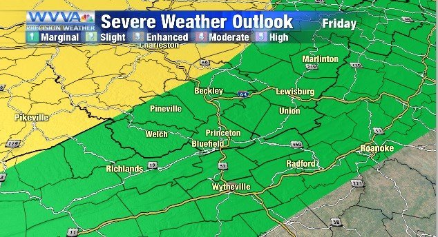 A Flash Flood Watch is in effect for Friday