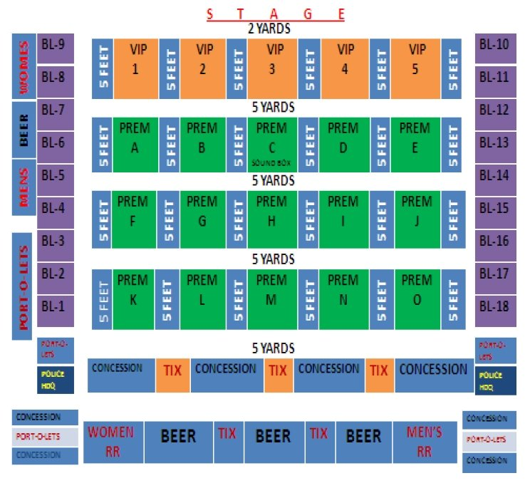 Mitchell Stadium seating chart