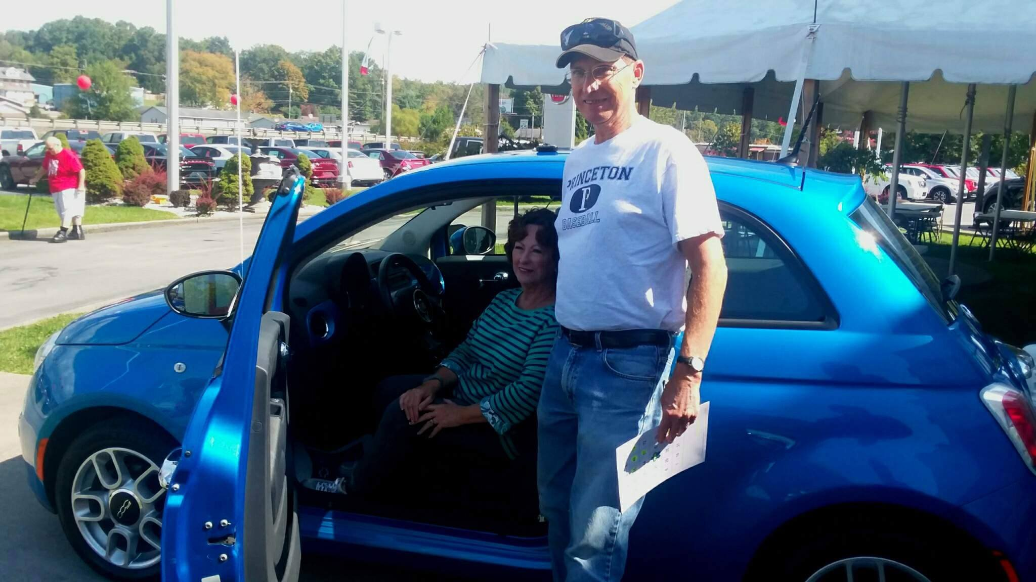 Tom Green won a 2015 Fiat from Ramey Chrysler Dodge for  donating the gift of life through the American Red Cross