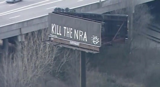 Kentucky Billboard Vandalized to Read 'Kill the NRA'