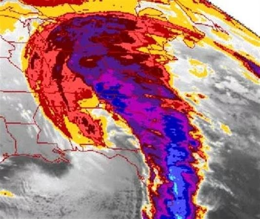NASA image of Superstorm
