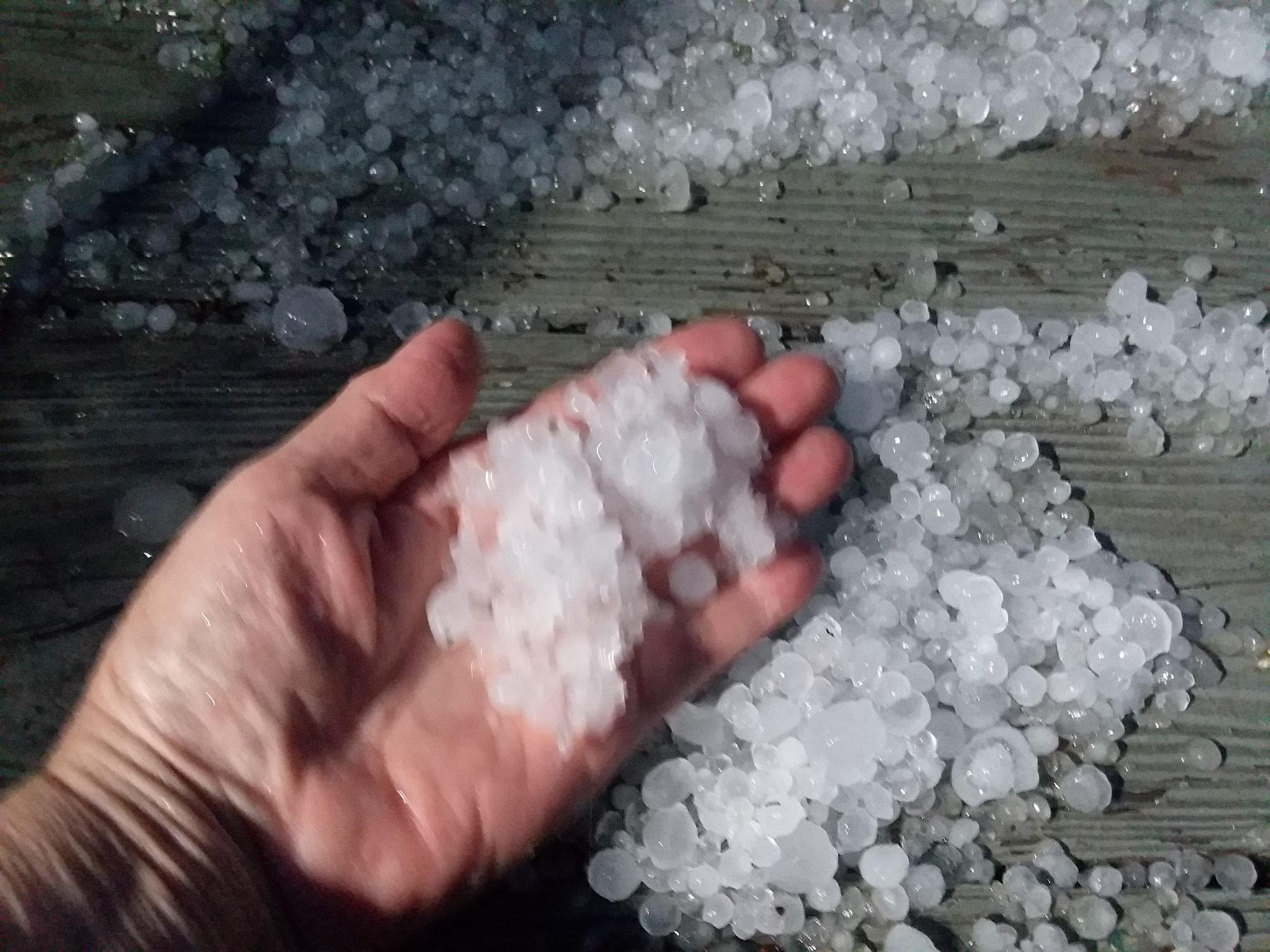 Hail in Greenville, WV. Photo Credit: Penny Brooks