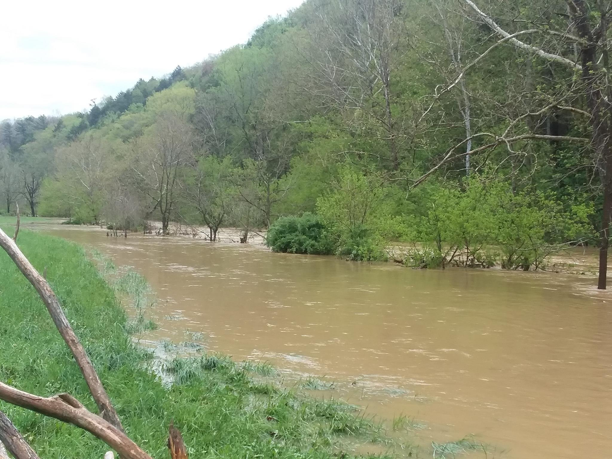 Flooding in Greenville, WV. Photo Credit: Penny Brooks