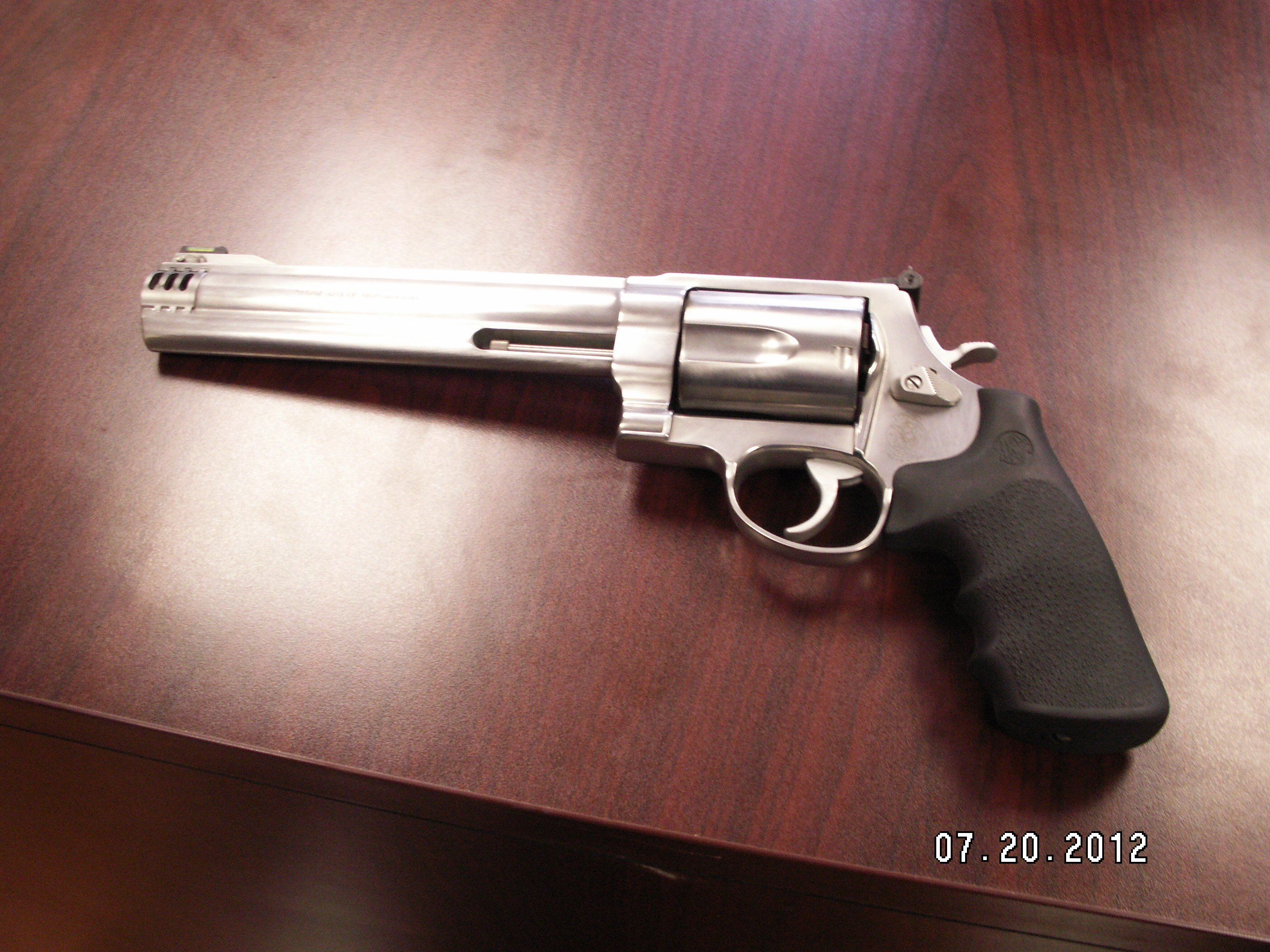 Handgun allegedly brandished; photo courtesy Sheriff's Office