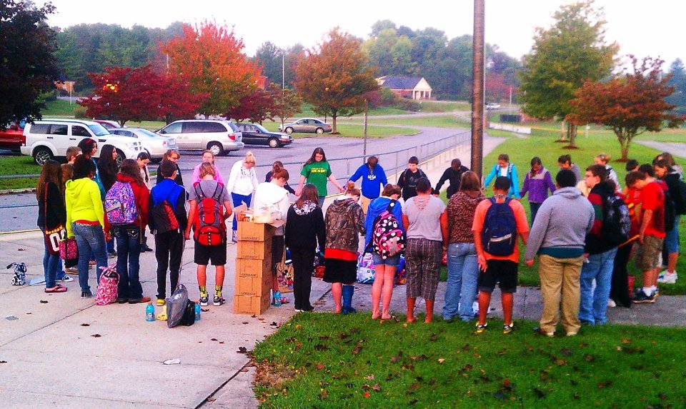 At the Pole at Graham Middle School