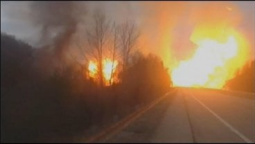 Scene from Dec. 2012 gas line explosion in Sissonville
