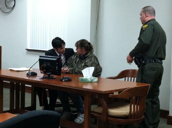 Suspect Judith Kowaleski in court