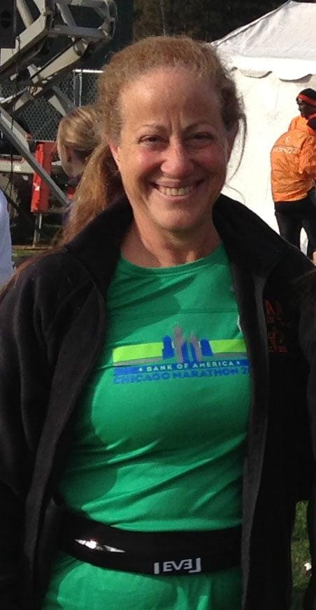 Dr. Zainab Shamma, at the beginning of the marathon.