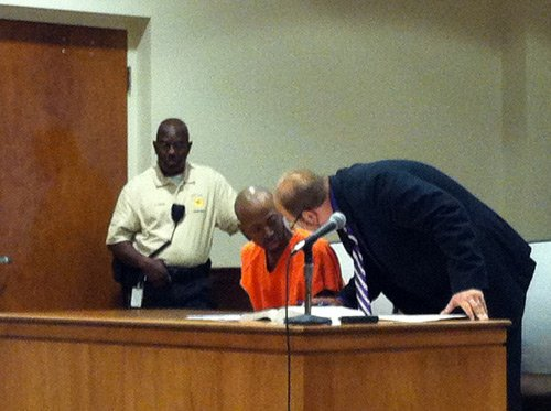 Aaron Portis in court. Photo by Robert Pauley
