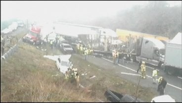 March 2013 accident on I-77, at Fancy Gap; file image