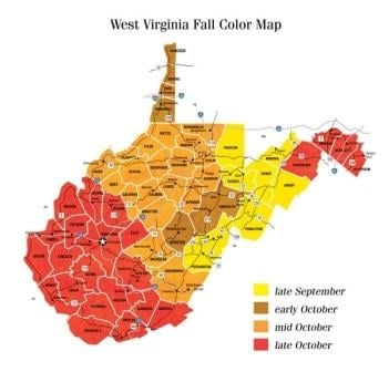 West Virginia Foliage Peak