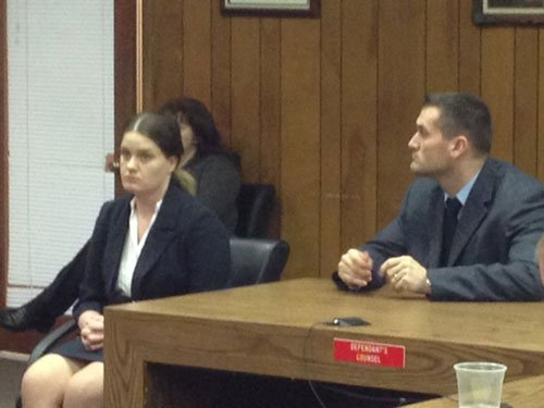 Rebecca Hatcher awaits verdict; photo by Gil McClanahan