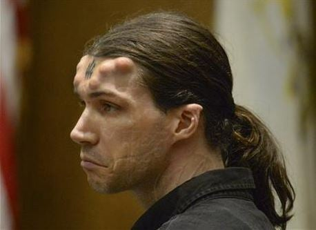 A man who has bumps resembling horns implanted in his forehead was found guilty of murder and other charges Friday for his role in the kidnapping and slaying of three Massachusetts men in 2011