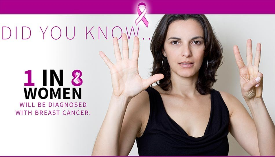 Did you know: 1 in 8 women will be diagnosed with breast cancer.