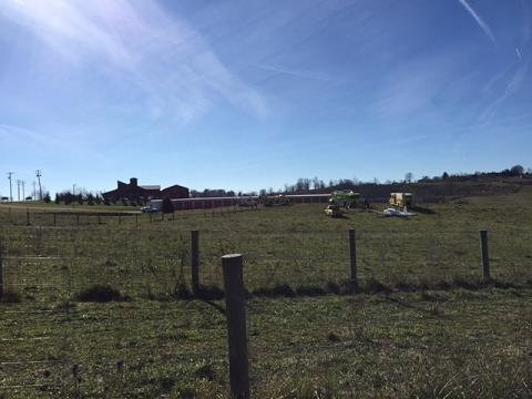 Pilot makes a hard landing in a grassy field at the Greenbrier Valley Airport
