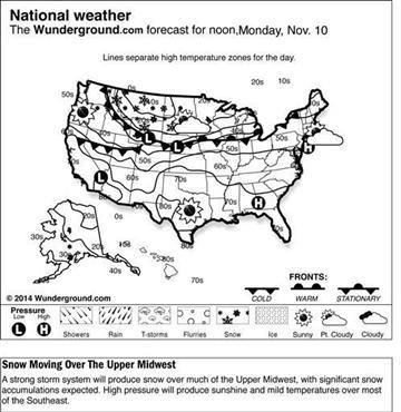 Rockies, Upper Midwest get blast of wintry weather