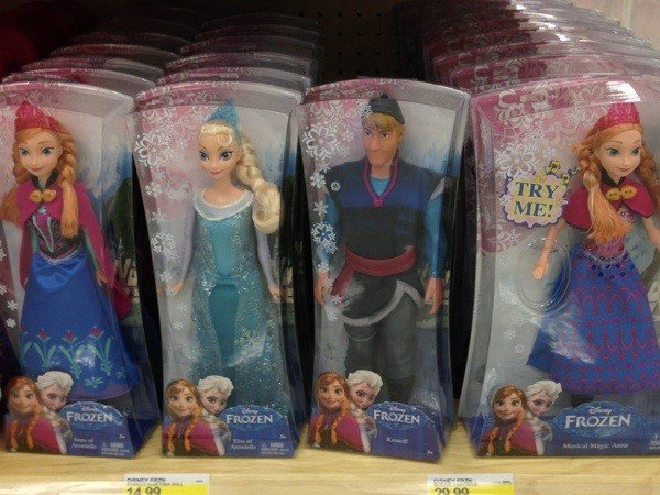 Frozen knocks off Barbie for top Christmas toy buy for girls.