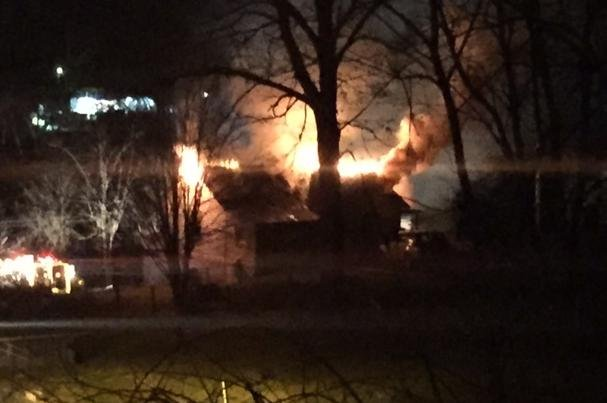 A fire is reported at a home on Post Road in Falls Mills, Virginia on Monday. Photo provided by Danny Rife.