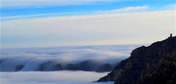 (AP Photo/National Park Service, Maci MacPherson). This photo provided by the National Park Service shows dense clouds at the south rim of the Grand Canyon on Thursday, Dec. 11, 2014 in Arizona.