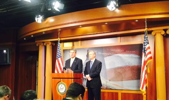 Senators Joe Manchin  and John Hoeven introduce legislation to approve the Keystone XL pipeline project in new Congress.