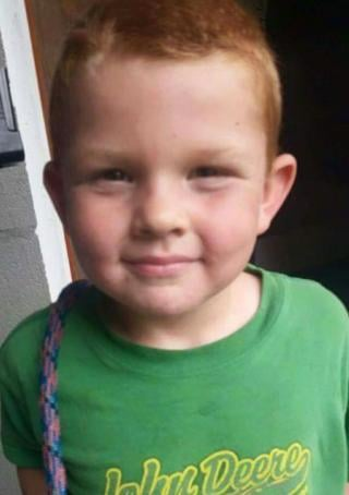 Noah Thomas, 5, was found dead in a septic tank near his home in Dublin, VA.