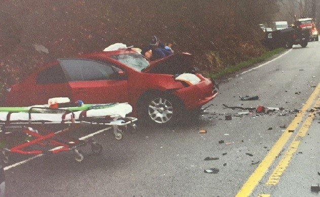 Two drivers are injured following a collision on Route 52 in McDowell County.