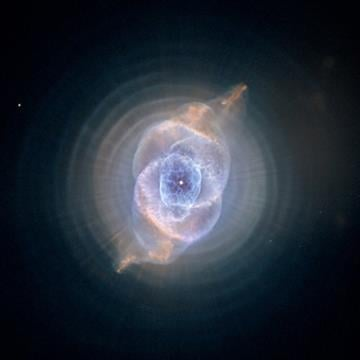 (STScI/AURA) via AP). This image made by the NASA/ESA Hubble Space Telescope shows NGC 6543, the Cat's Eye Nebula. The Hubble Space Telescope, one of NASA'S crowning glories, marks its 25th anniversary on Friday, April 24, 2015.