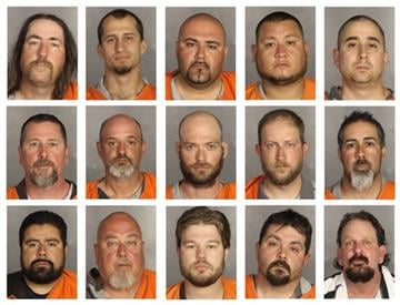 McLennan County Sheriff's Office via AP). This combination of booking photos provided by the McLennan County Sheriff's office shows people arrested during the motorcycle gang related shooting at the Twin Peaks restaurant in Waco, Texas on Sunday, May ..