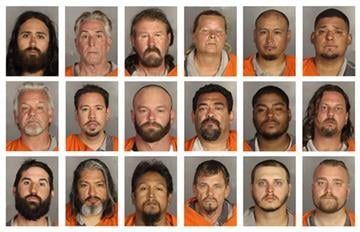 McLennan County Sheriff's Office via AP). This combination of booking photos provided by the McLennan County Sheriff's office shows people arrested during the motorcycle gang related shooting at the Twin Peaks restaurant in Waco, Texas on Sunday, May ...