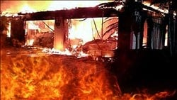 Abandon structure catches fire Saturday morning in McDowell County