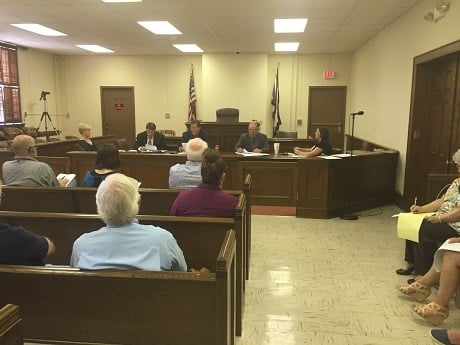 June 9 Greenbrier County commission meeting.