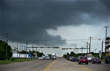 (Al Key /The Denton Record-Chronicle via AP). Ominous low-hanging clouds accompanied a thunderstorm from the outer bands of Tropical Storm Bill that was already reaching north Texas as this cell passed over East University Drive Tuesday, June 16, 2015,...