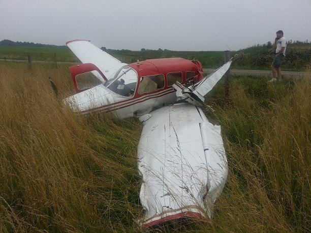 Plane crash at Twin County Airport