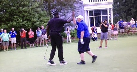 Shaquille O'Neal and Jim Justice