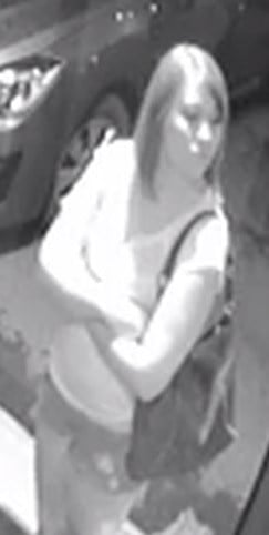 The woman pictured here is wanted for questioning in connection with the armed robbery of a video lottery parlor in Beaver, WV.