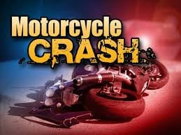 Motorcycle crashes with SUV
