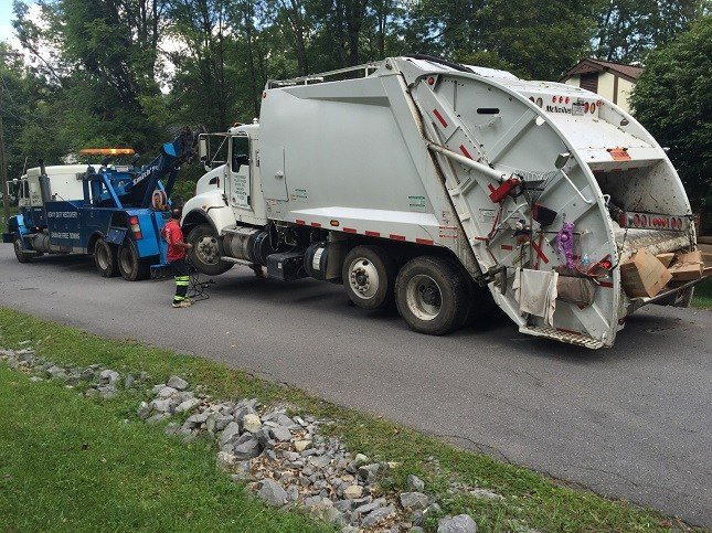 A solid waste employee is hit by a garbage truck in Lewisburg.