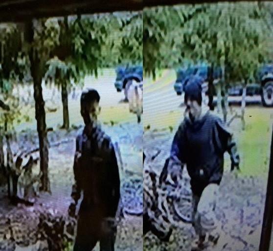 Security footage captures the burglary