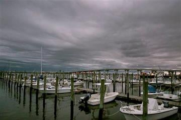 (Vernon Ogrodnek/The Press of Atlantic City via AP). Clouds mark a low-pressure system moving into Somers Point, N.J., Wednesday, Sept. 30, 2015.