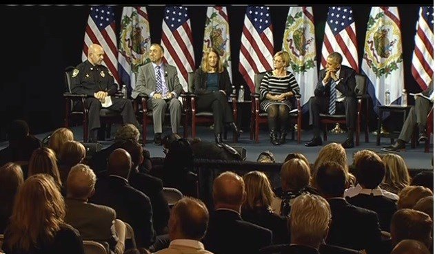 President Barack Obama held a town hall meeting in Charleston, WV on prescription drug abuse and heroin use.