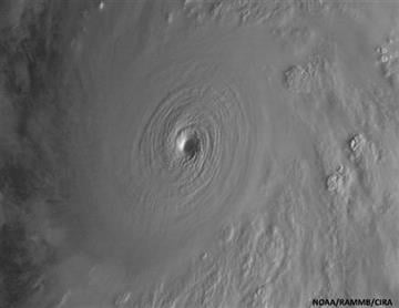 (NOAA/RAMMB/CIRA via AP). This satellite image taken at 9:30 a.m. EDT on Friday, Oct. 23, 2015, and released by the National Oceanic and Atmospheric Administration shows Hurricane Patricia.