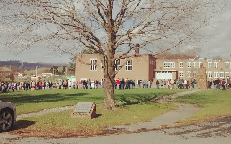 Students at Tazewell County High School were evacuated after a boiler malfunction on Thursday.