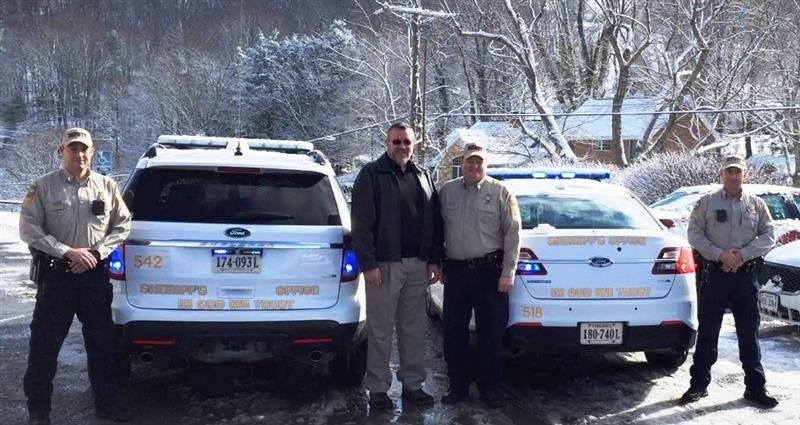 Pastor Tim Boyd, Sheriff Hieatt, Lieutenant McNerlin, and Lieutenant Hankins, photo courtesy: Tazewell County Sheriff's Office