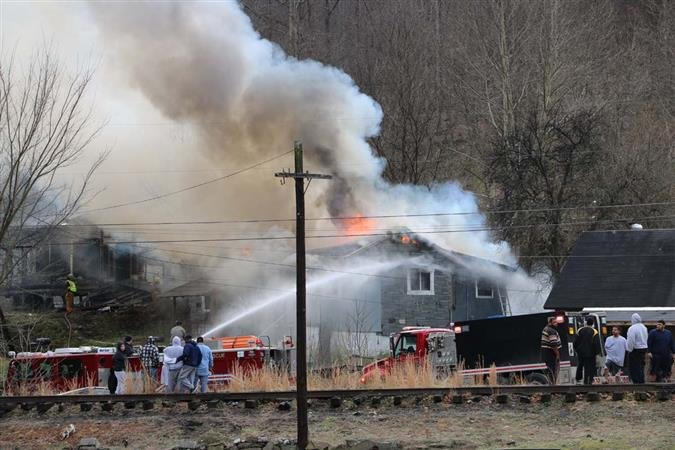 A home in Havaco, WV is destroyed by fire. The call came in around noon on Thursday. photo courtesy: Timothy Hairston