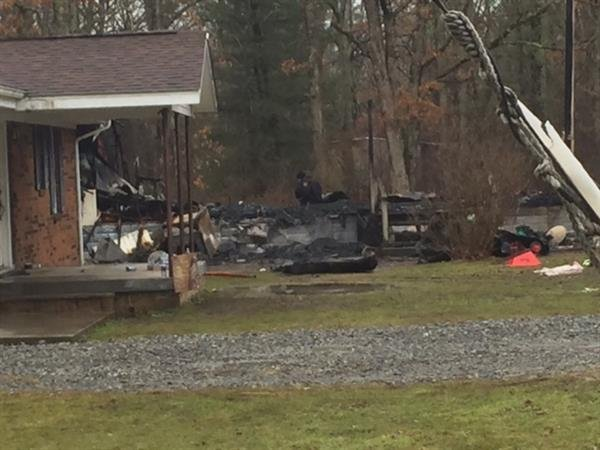 1 dead in overnight fire in Raleigh County/ photo courtesy:  Annie Moore