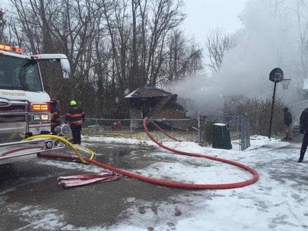 One person is dead following a residential fire in Raleigh County on Friday. photo courtesy: Annie Moore