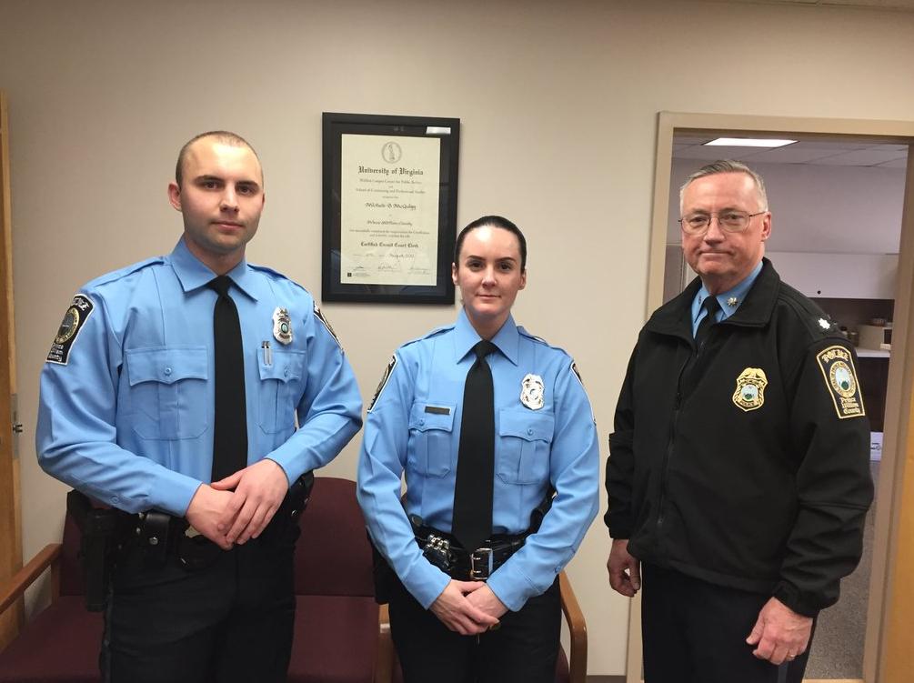 Officers Steven Kendall & Ashley Guindon sworn in on Friday