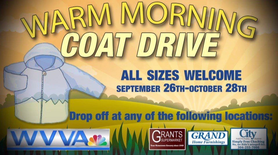 Wvva 39 s 2016 warm morning coat drive wvva tv bluefield beckley wv news weather and sports National home furniture beckley wv